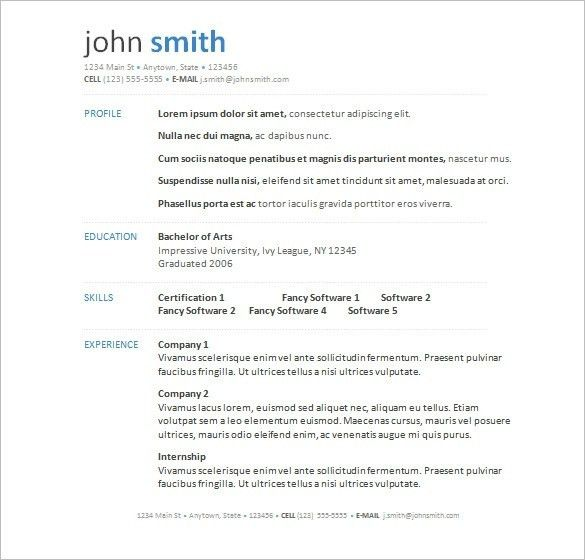Resume Outlines Examples. Basic Resume Outline | Best Business ...