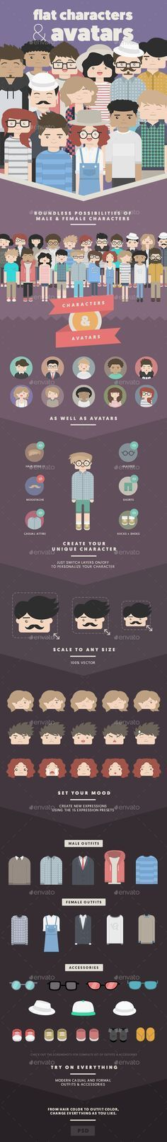 flat #illustration #characters | Motion Graphics / Illustrations ...