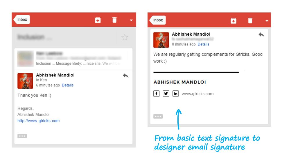 How to Add Social Icons to Your Gmail Signature