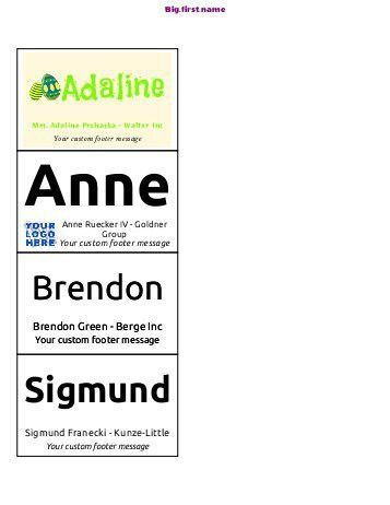 Name Badge Template. Avery Printable Self-Adhesive Name Badges, 2 ...
