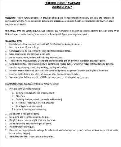 cna job description. nursing assistant resume templates socialsci ...