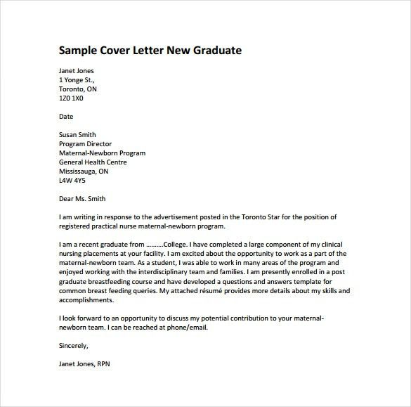 cover letter sample nursing cover letter letter nursing graduate ...