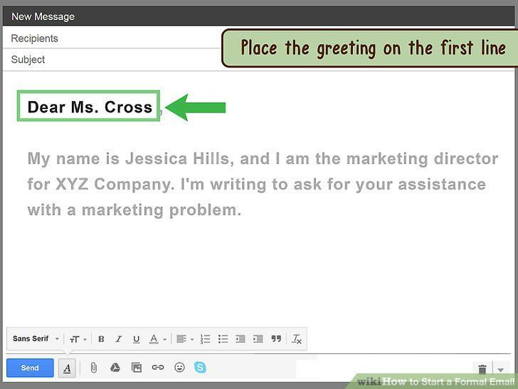 How to Start a Formal Email: 14 Steps (with Pictures) - wikiHow