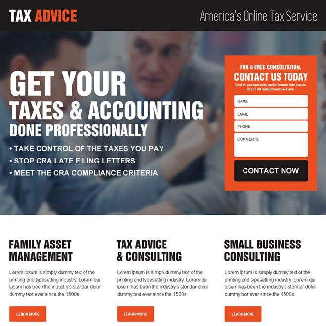 Responsive tax landing page designs to boost you traffic and leads