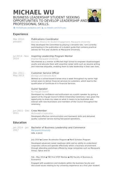 Publications Resume samples - VisualCV resume samples database