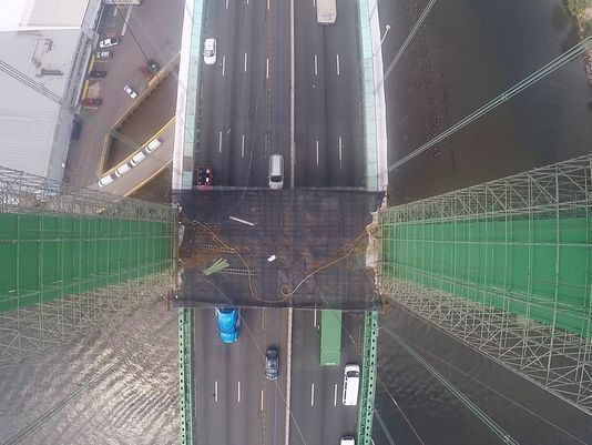 Walt Whitman Bridge painters offer a look at the job