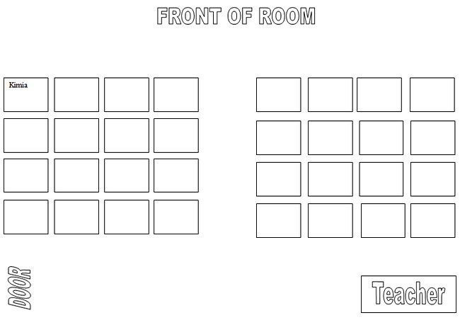 Computer Lab Seating Chart Template | K-5 Computer Lab