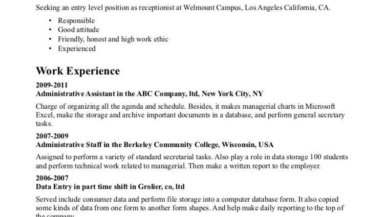 entry level resume examples entry level customer service resume ...