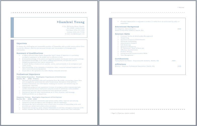 Dispatcher Resume – Sample Resumes