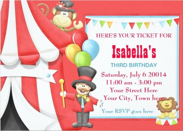 23+ Carnival Birthday Invitations – Free PSD, Vector EPS, AI ...