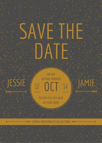 Gold Save the Date Card - Templates by Canva