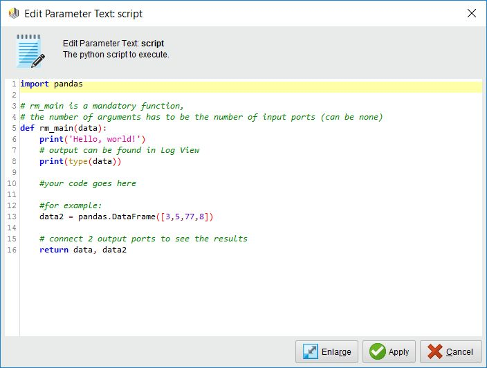 Importing data and using custom python code to rea... - RapidMiner