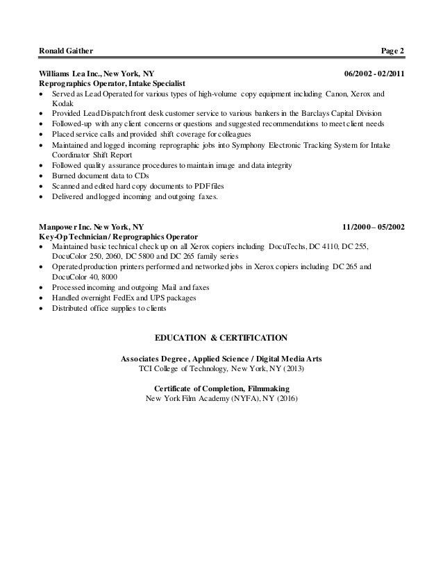 production operator resume samples visualcv resume samples database