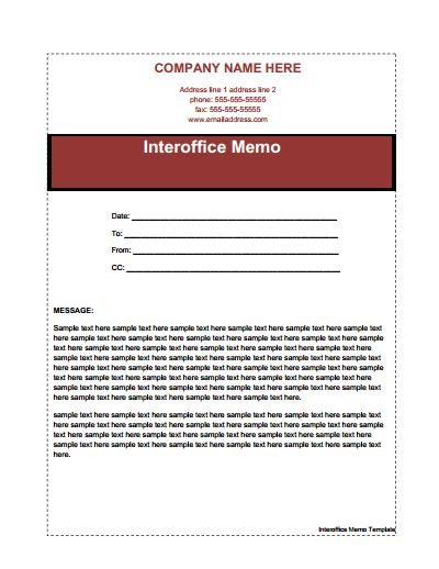 Interoffice Memo Template: Free Download, Create, Edit, Fill and Print