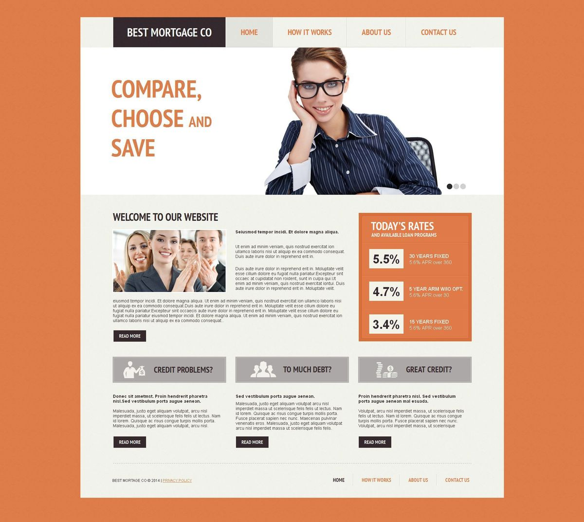 Mortgage Moto CMS HTML Template #51946