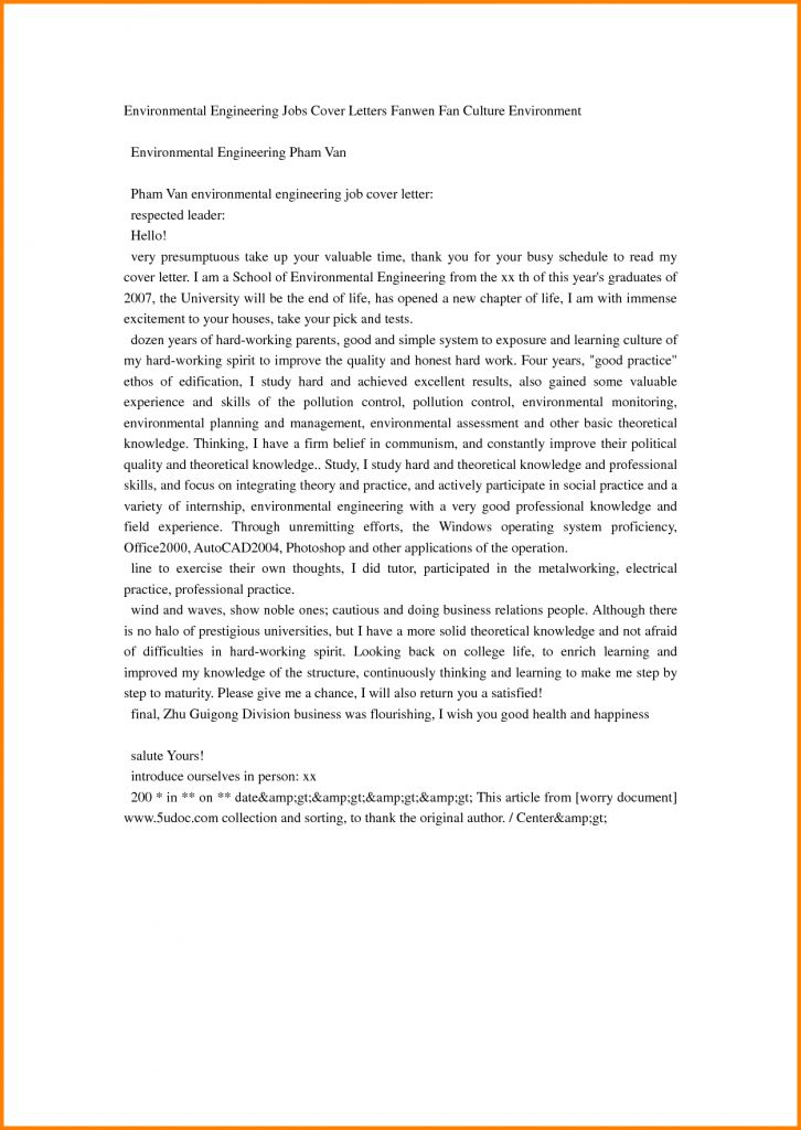 Download Environmental Engineering Cover Letter ...