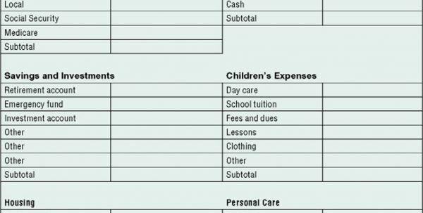 Financial Statement Form. Business Financial Statement Form 3 ...