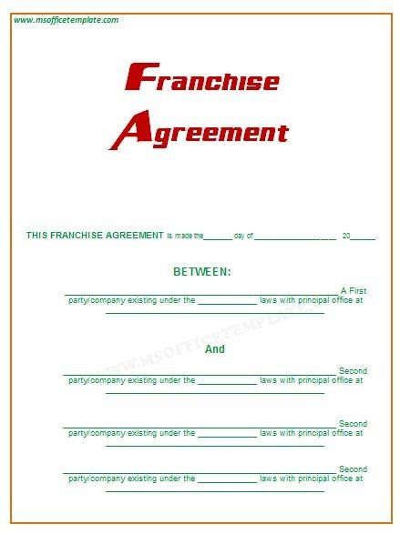 Microsoft Office TemplatesFranchise Agreement
