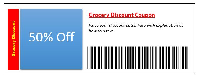 City Restaurant Coupon Template – Coupon Templates