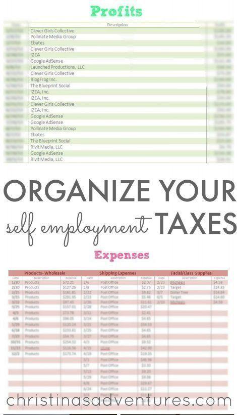 Organize Small Business Taxes {plus free printables} - Christinas ...