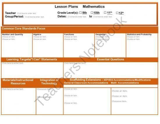 53 best Lesson plans images on Pinterest | Lesson plan templates ...