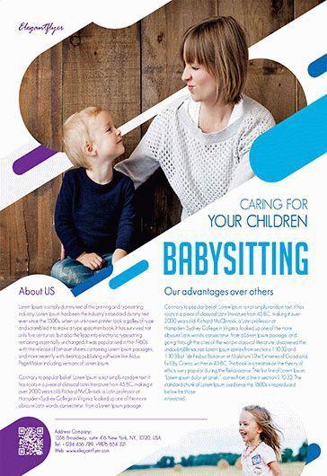 Free Babysitting Flyer Template | by ElegantFlyer