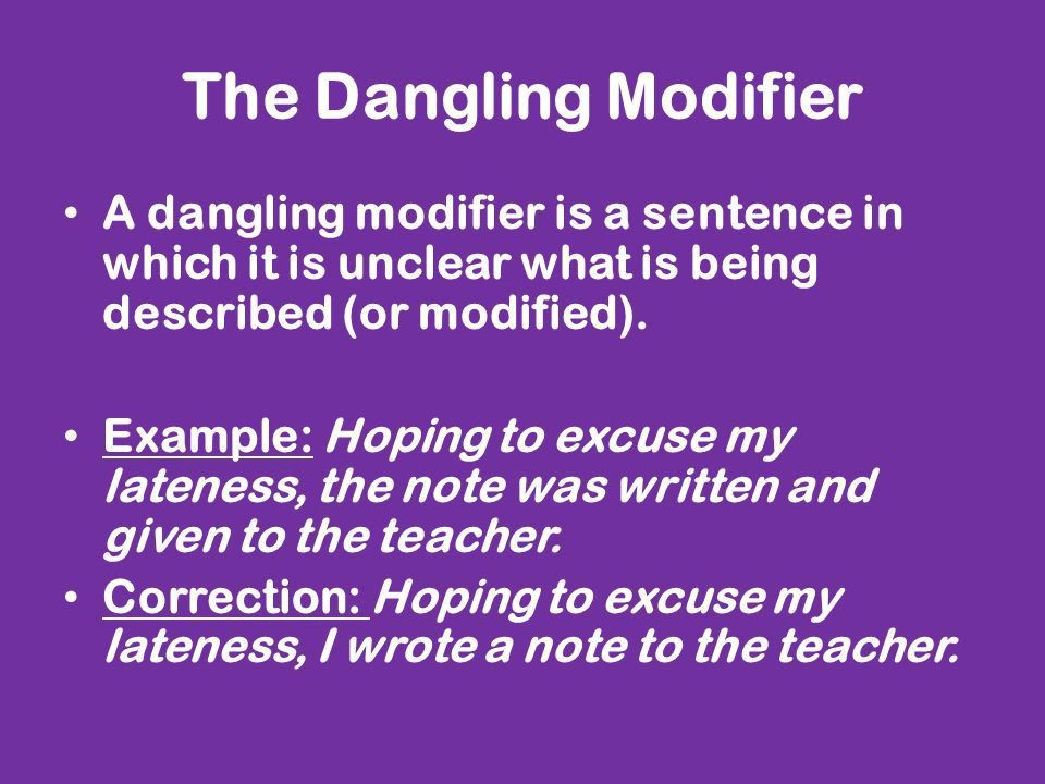 """Modifiers. What is a """"modifier""""? A modifier works like an ..."""