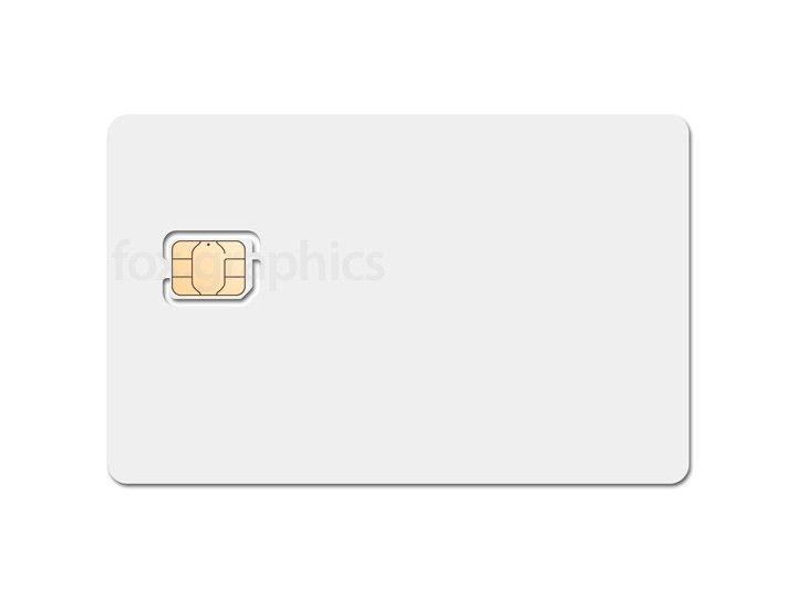 Nano SIM card template PSD - Fox Graphics