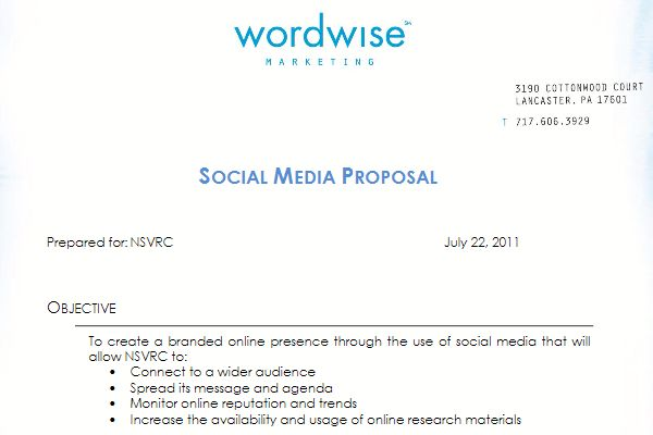 social media proposal template. how to write a business proposal ...