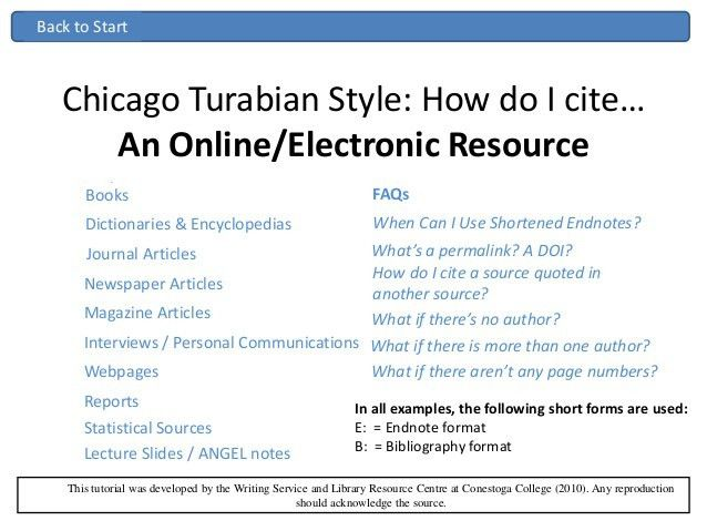 Chicago turabian ppt
