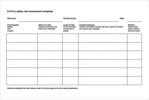 Risk Assessment Template | ebook