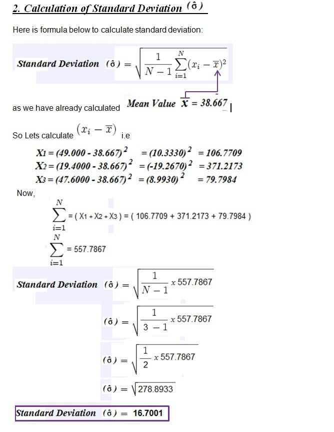 Calculation of Standard deviation, Cp & Cpk in SPC | SAP Blogs