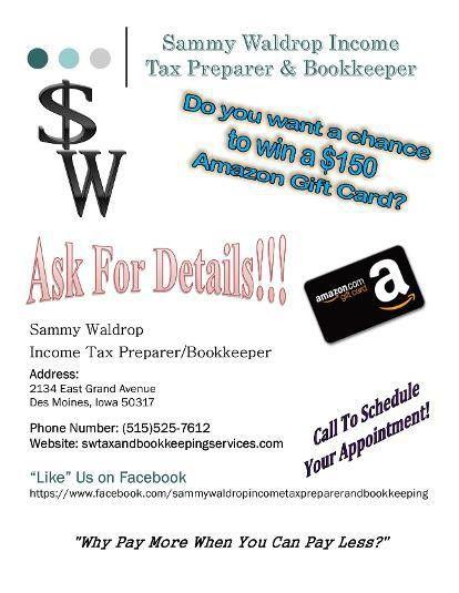 Sammy Waldrop Income Tax Preparer/Bookkeeper