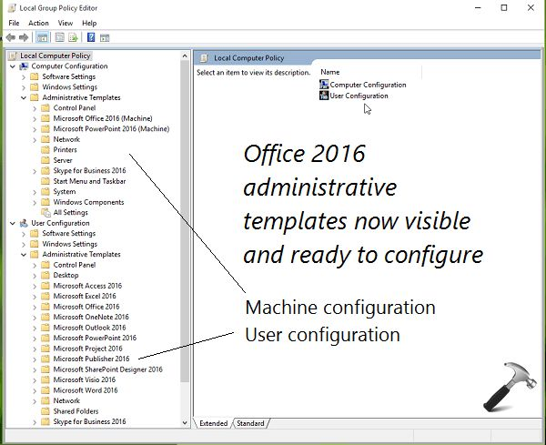 GUIDE] Install Office 2016 Group Policy Templates In Windows 10