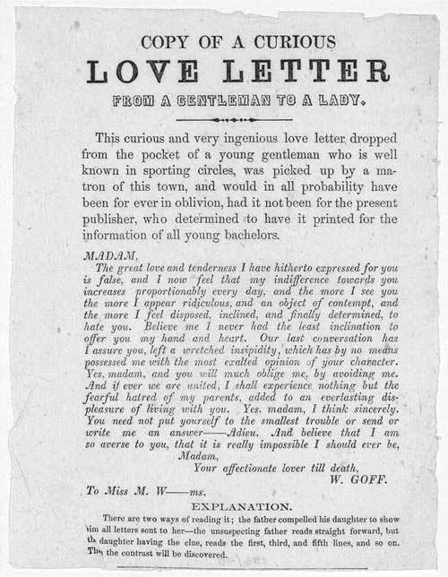 From a Gentleman to a Lady: A Clever Cryptographic Love Letter ...