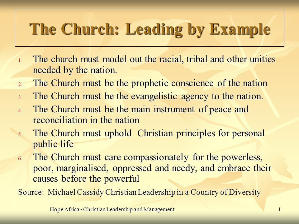 The Church: Leading by Example - ppt video online download