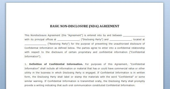 Free Confidentiality Agreement Template Download | Best Template ...