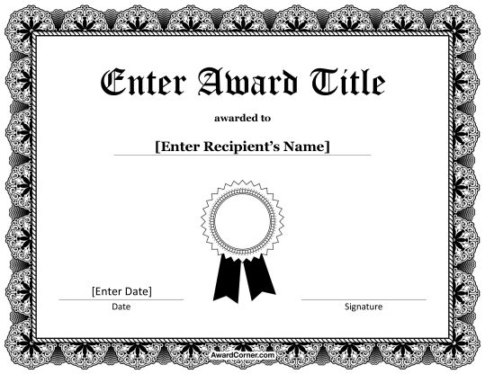 Free Certificate Templates for Microsoft Word