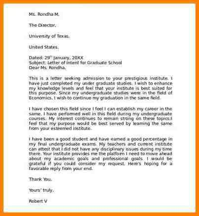 Sample Letter Of Intent Medical School. 9+ Letter Of Intent Grad ...