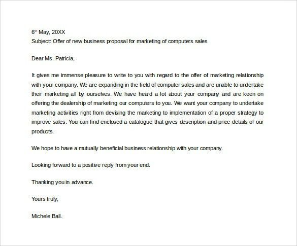 Sample Proposal Letter | | jvwithmenow.com