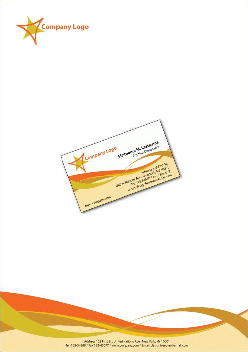 Free Illustrator Templates: Business Cards and Letterheads ...