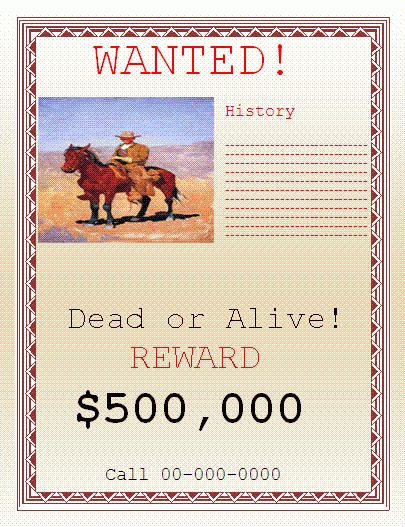 Wanted Poster Template | Nice Word Templates