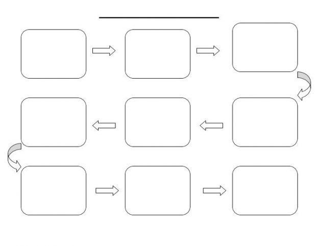 word flowchart template