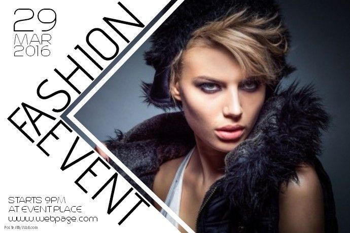 fashion beauty event poster template landscape | PosterMyWall