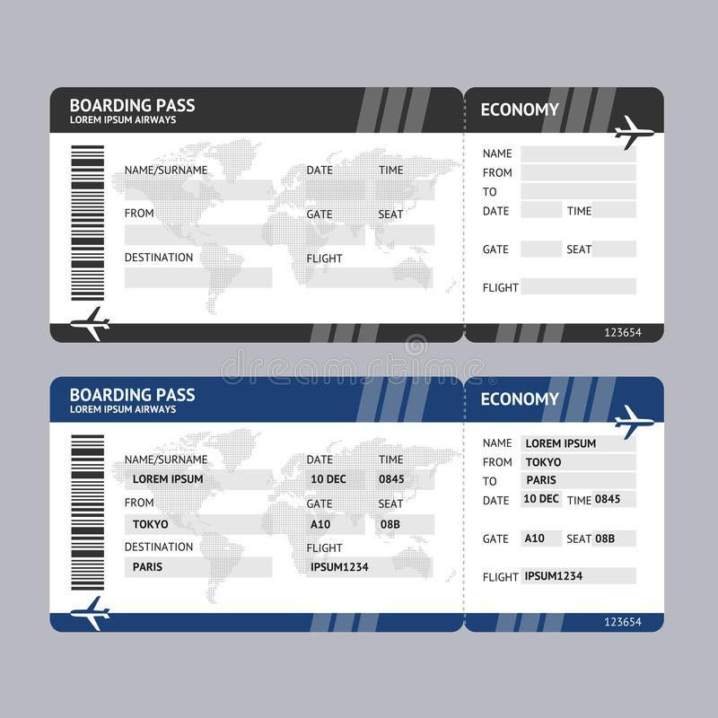 Blank Airline Ticket Template. editable airline ticket template ...