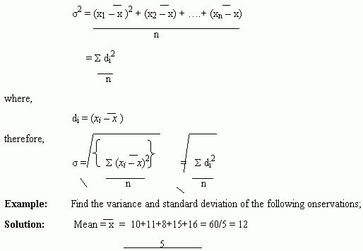 Variance and Standard Deviation Assignment Help | Math Homework Help