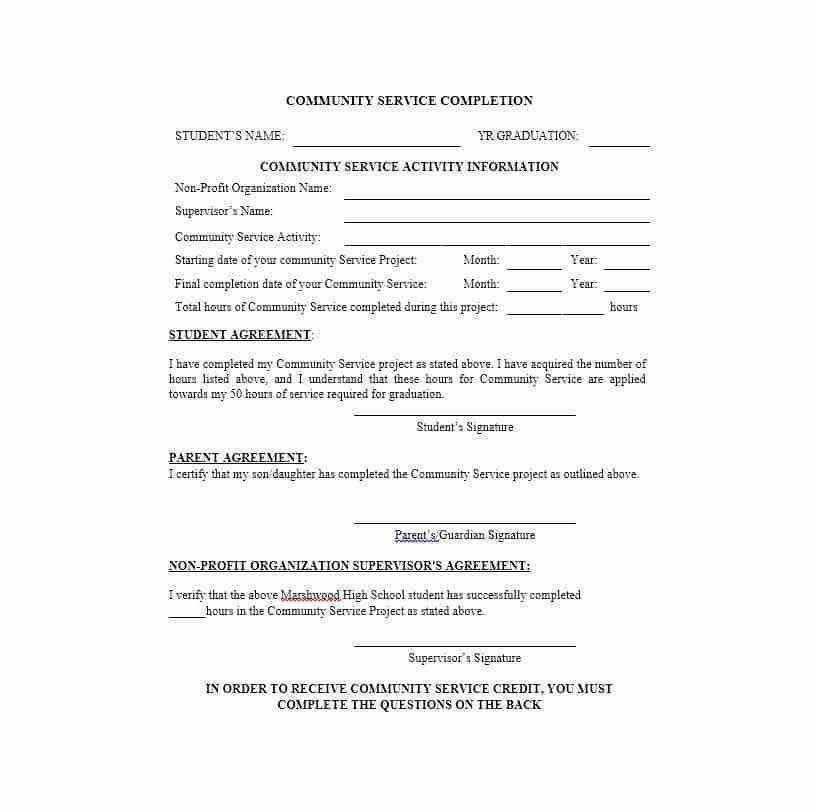 Community Service Letter - 40+ Templates [Completion, Verification]