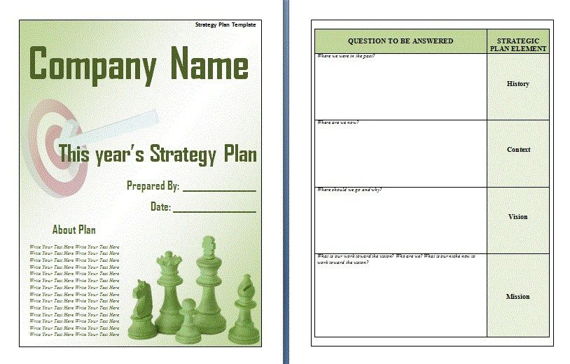 7+ strategic plan word template | attendance sheet