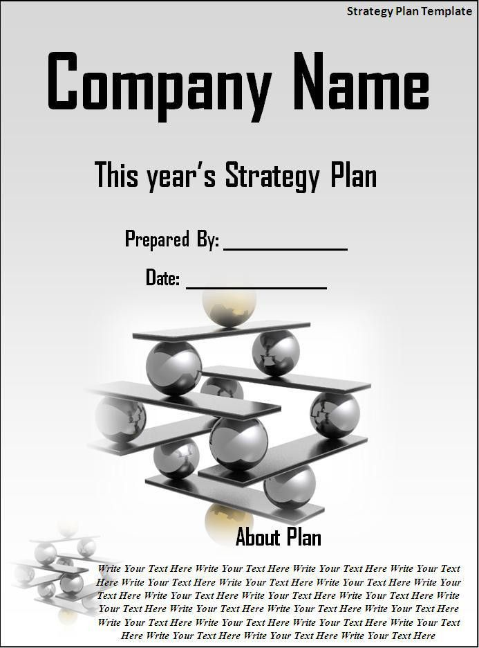 Strategic Business Plan Template Download Page | Word Excel Formats