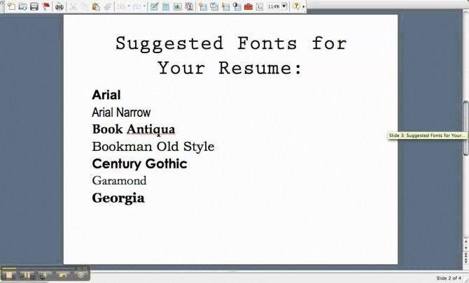 Elegant Best Font To Use On Resume | Resume Format Web